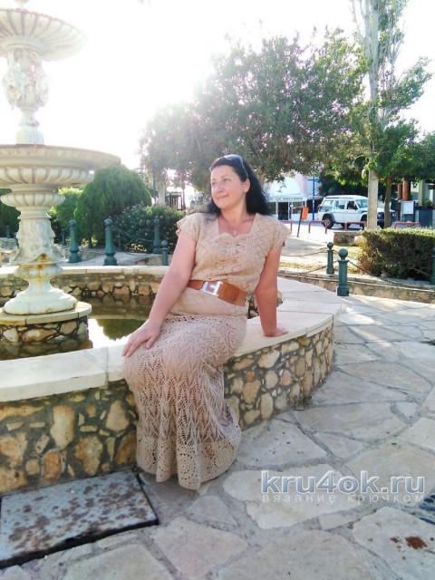 Вязаное крючком платье Зачарованная. Работа Анны Бутиковой вязание и схемы вязания