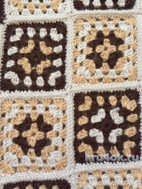 Жакет в технике Бабушкин квадрат. Работа Анны Бутиковой вязание и схемы вязания