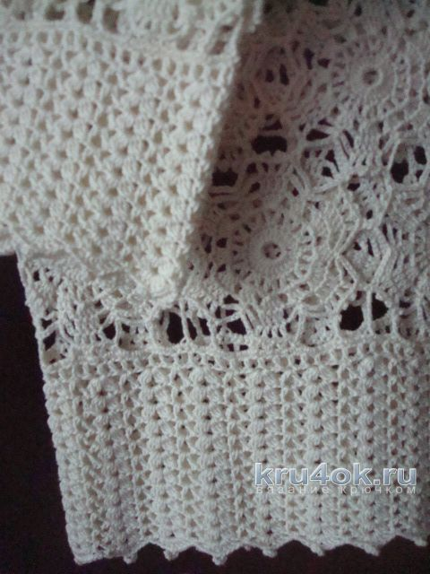 Женская блуза крючком. Работа Анжелы вязание и схемы вязания