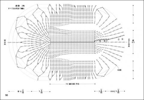 схема вязания следков крючком