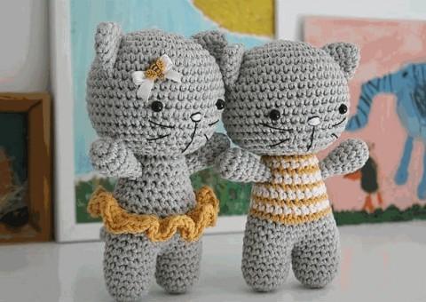 фото кота амигуруми крючком