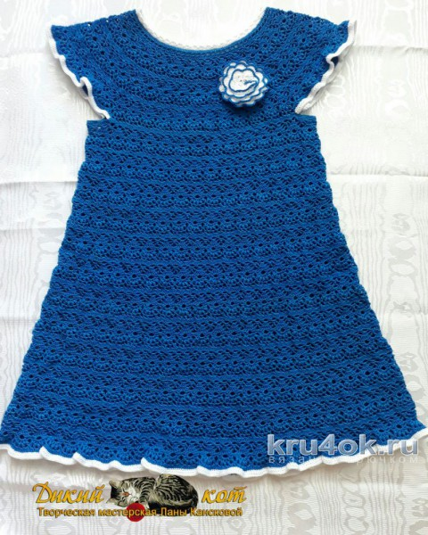 Авторская работа Ланы Кансковой платье Летний бриз вязание и схемы вязания