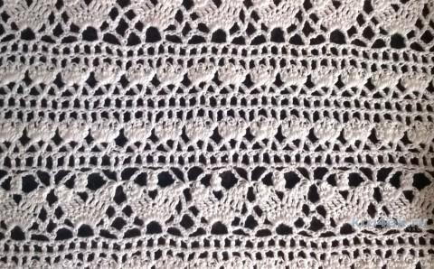 Ажурная кофточка крючком. Работа Елены Шевчук вязание и схемы вязания