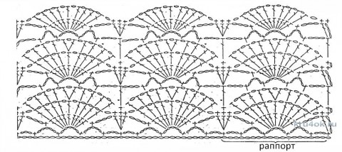Ажурный комплект Цветы мяты. Работа Светланы Чайка вязание и схемы вязания