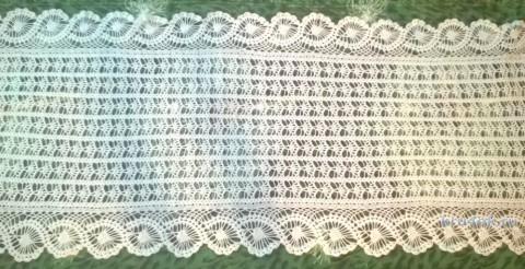 Ажурный палантин с каймой. Работа Елены  Шевчук вязание и схемы вязания