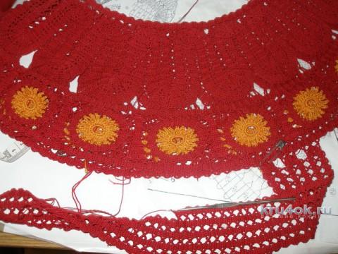 Ажурный топ Лето красное. Работа Елены вязание и схемы вязания
