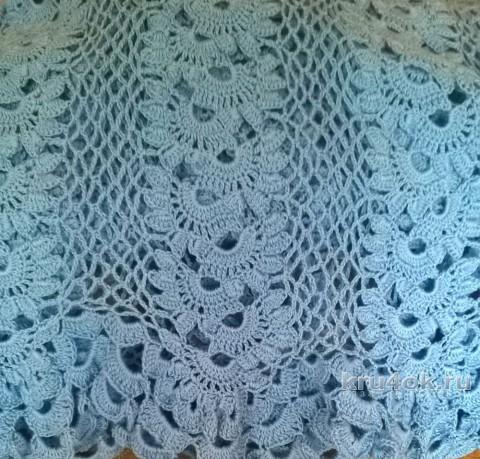 Длинная юбка крючком. Работа Елены Шевчук вязание и схемы вязания