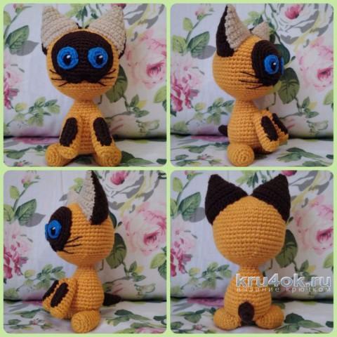 игрушка котенок по имени Гав крючком. Работа Ксении вязание и схемы вязания
