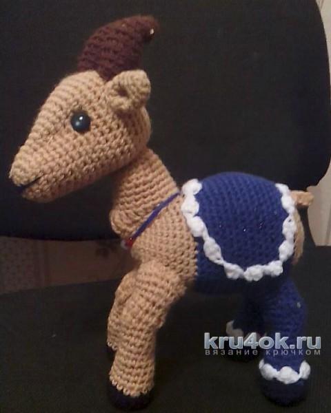 Игрушка козочка крючком. Работа Светланы вязание и схемы вязания