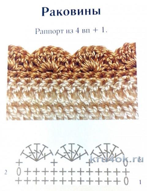 Кофточка для девочки крючком. Работа Катерины Петяниной вязание и схемы вязания
