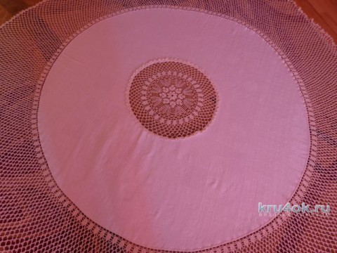 Комбинированная скатерть. Работа Надежды Лавровой вязание и схемы вязания