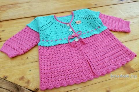 Комплект Киска: кофточка и шапочка для девочки на 2 года вязание и схемы вязания