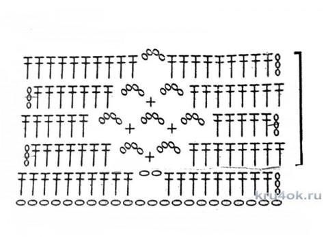 Кроп-топ крючком. Работа Ольги Ярославской вязание и схемы вязания