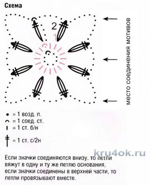 Летняя кофточка из мотивов. Работа Елены Шевчук вязание и схемы вязания