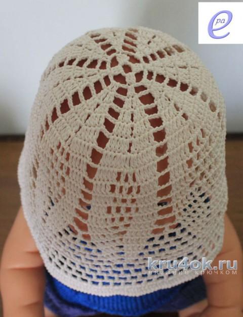 Панама для девочки крючком. Работа Веры Коваль вязание и схемы вязания