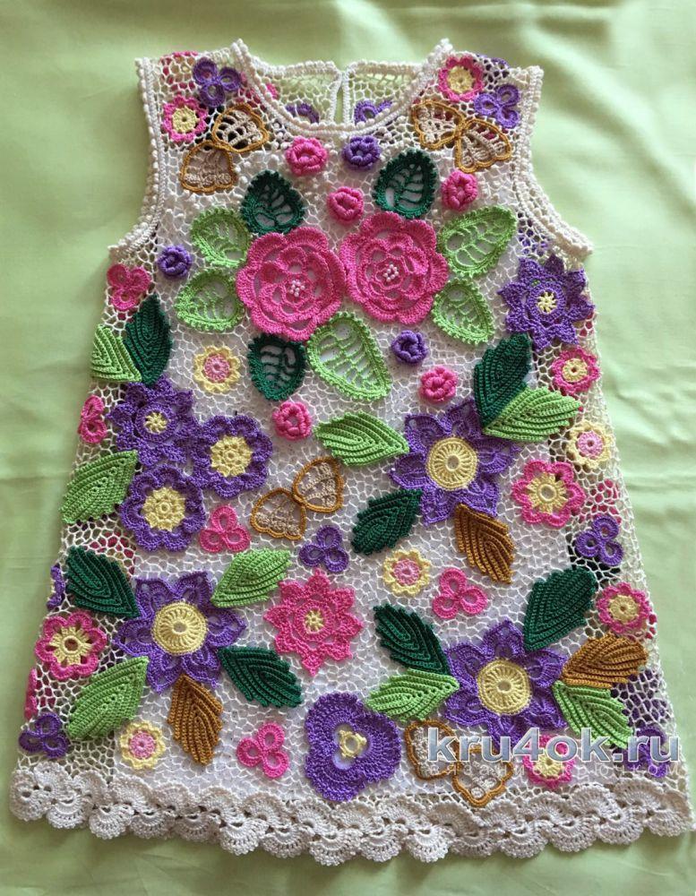 Платья для девочек в стиле ирландского кружева