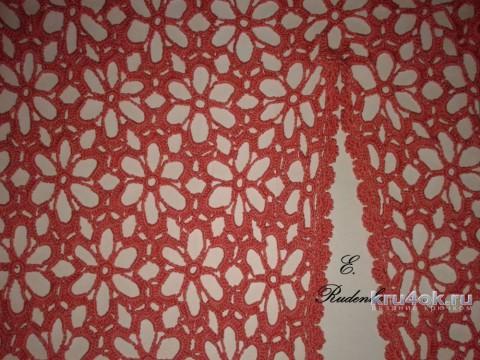 Платье макси Коралл. Работа Евгении Руденко вязание и схемы вязания