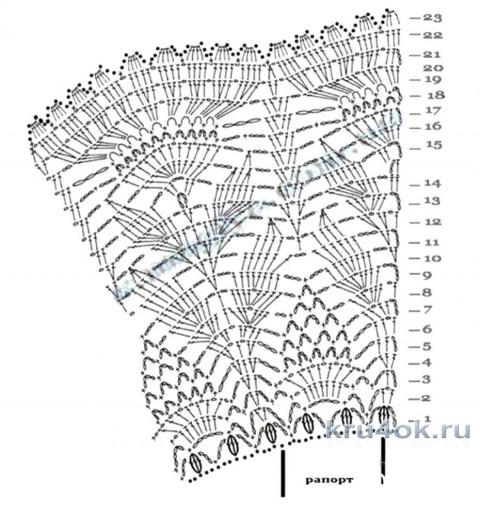 Пляжная юбочка крючком. Работа Елены  Шевчук вязание и схемы вязания
