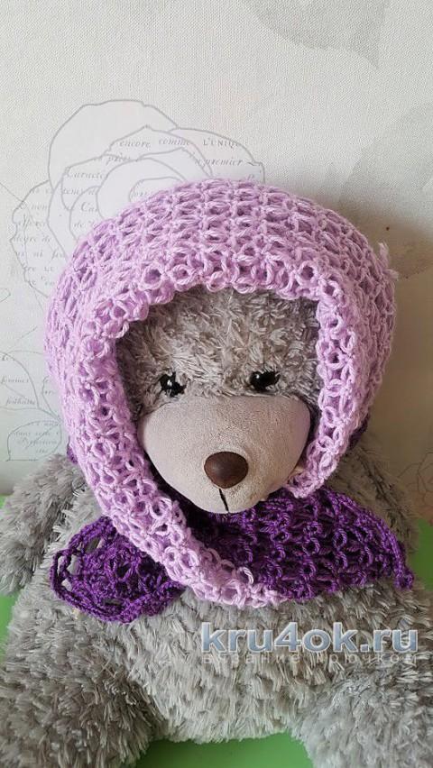 Сиреневый платок из кашемира. Работа Ольги Домасовой вязание и схемы вязания