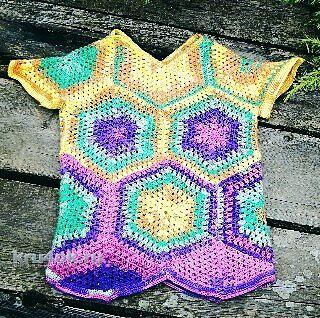 Топ для девочки крючком. Работа knitting_manis_el вязание и схемы вязания