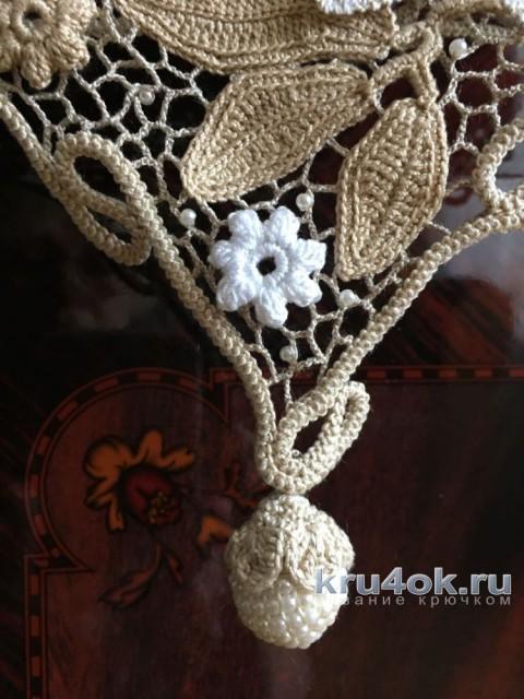 Вязаная крючком кофточка. Работа Людмилы Максютовой вязание и схемы вязания