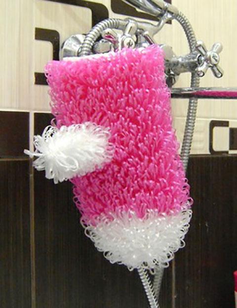 фото вязаной мочалки