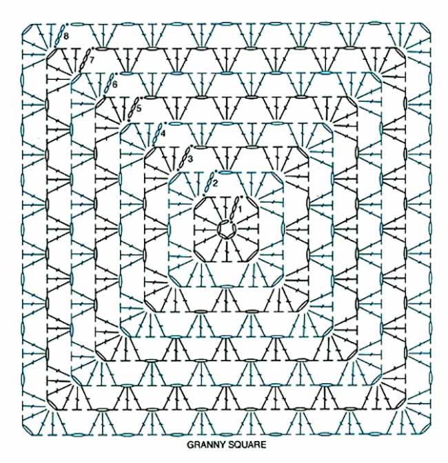 60 схем бабушкиных квадратов с мастер классами
