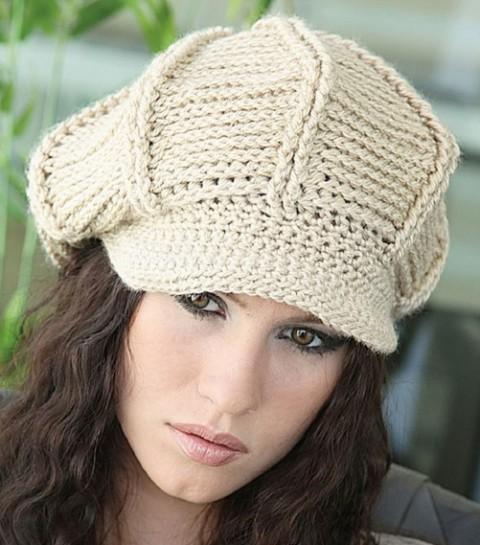 женская кепка крючком