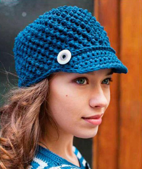женская кепка крючком фото