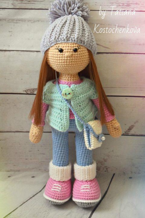 Кукла Стеша крючком, описание работы