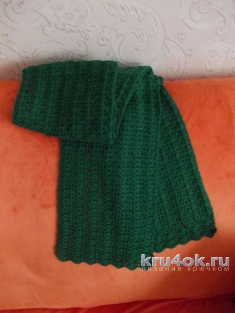 Ажурный шарф крючком. Работа Снежанна вязание и схемы вязания