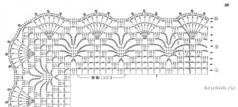 Белая туника крючком. Работа Галины вязание и схемы вязания
