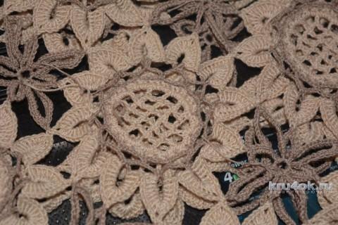 Кофточка Подсолнухи крючком. Работа Ирины вязание и схемы вязания