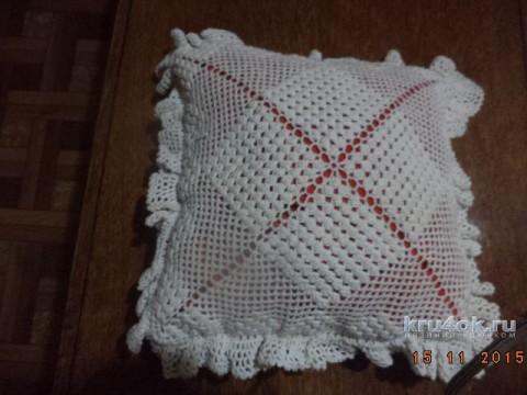 Наволочка для подушки крючком. Работа Нины Яснило вязание и схемы вязания