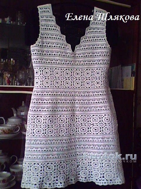 Платье Белая мережка. Работа Елены Шляковой