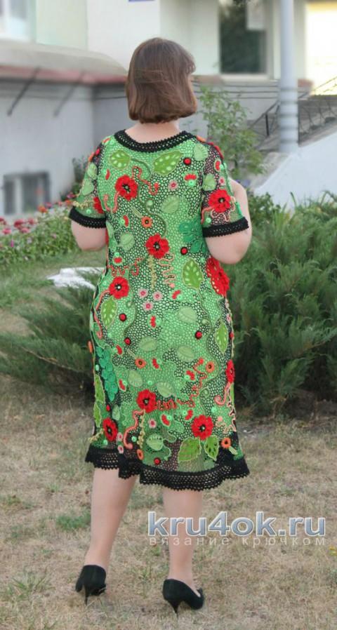 Платье крючком Сон в летнюю ночь. Работа Светланы Шевченко вязание и схемы вязания