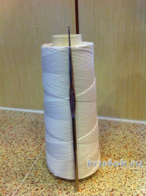 Салфетка Августина крючком. Работа Татианы вязание и схемы вязания