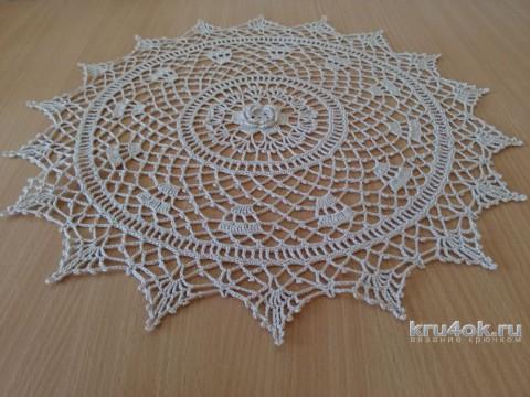Салфетка Ирландская роза. Работа Снежаны вязание и схемы вязания