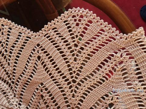 Топ крючком. Работа Надежды Борисовой вязание и схемы вязания