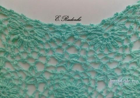 Туника крючком Морская волна. Работа Евгении Руденко вязание и схемы вязания