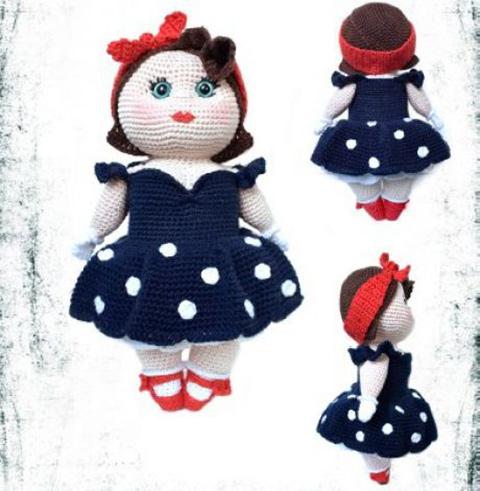 фото вязаной куклы