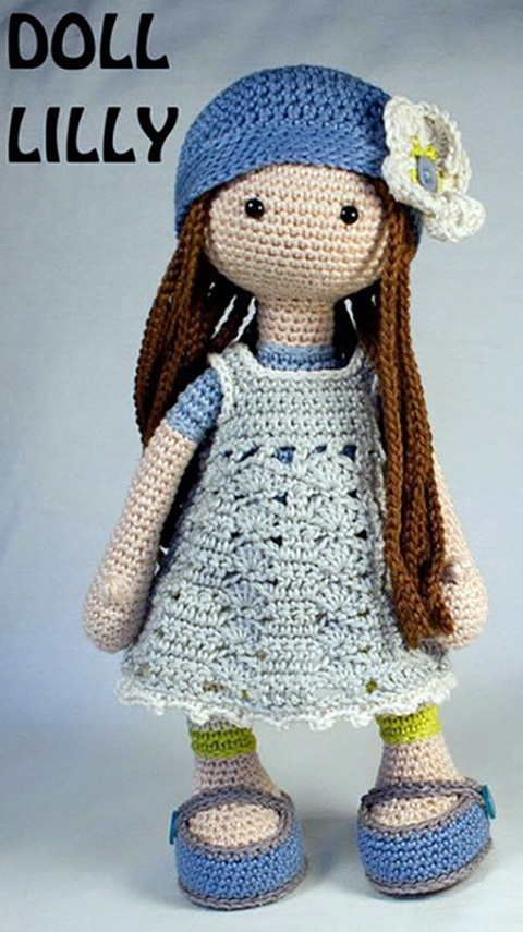 вязаная крючком кукла Лили