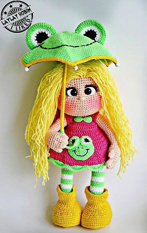 фото вязаной крючком куколки