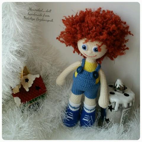 фото вязаной крючком куклы Левы