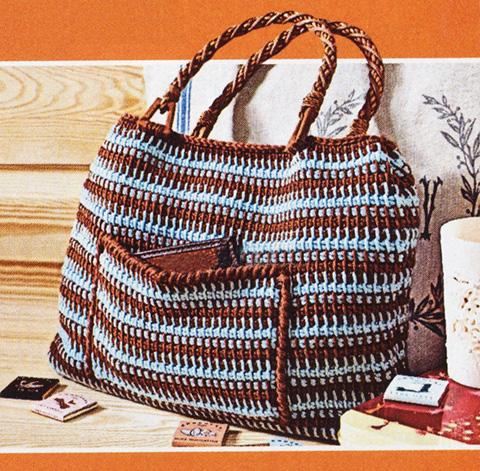 пляжная сумка тунисским крючком