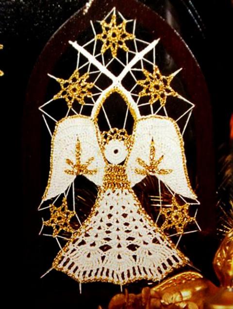 ангел крючком фото
