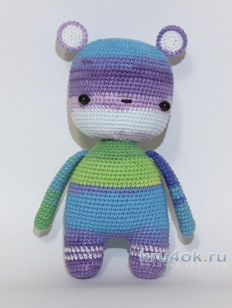 Вязаная крючком игрушка Радужный мишка. Работа Александры Янковской вязание и схемы вязания
