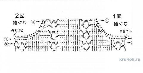 Летний топ крючком. Работа Светланы Кульбашной вязание и схемы вязания