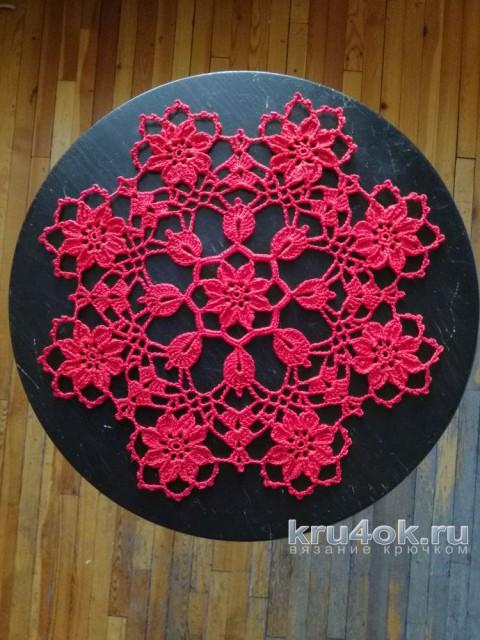 Салфетка Азалии. Работа Снежаны вязание и схемы вязания