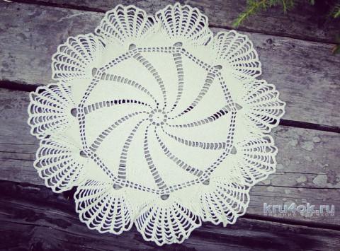 Салфетка крючком. Работа knitting_manis_el вязание и схемы вязания